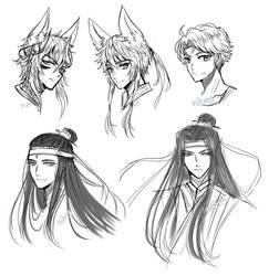 [C/FA] Male Headshot Sketch Batch