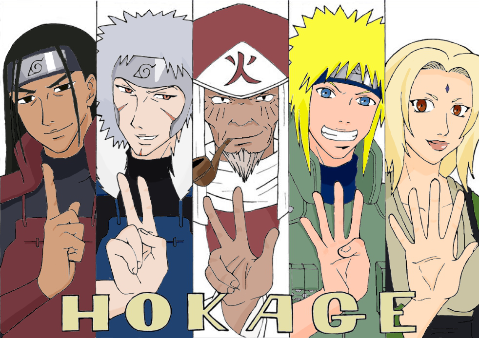 The 5 Hokage - colour by Sand-sama on DeviantArt