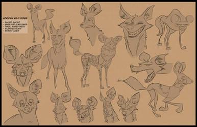Wild Dog sketches portfolio