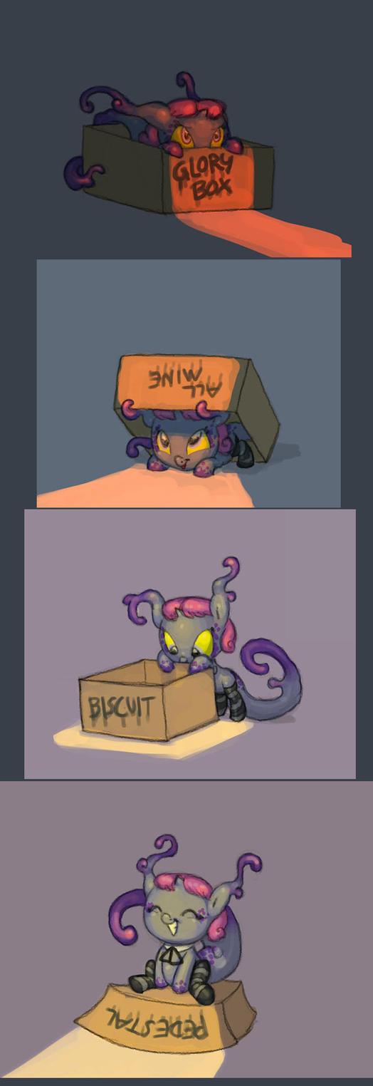 Satin and the box by Siansaar