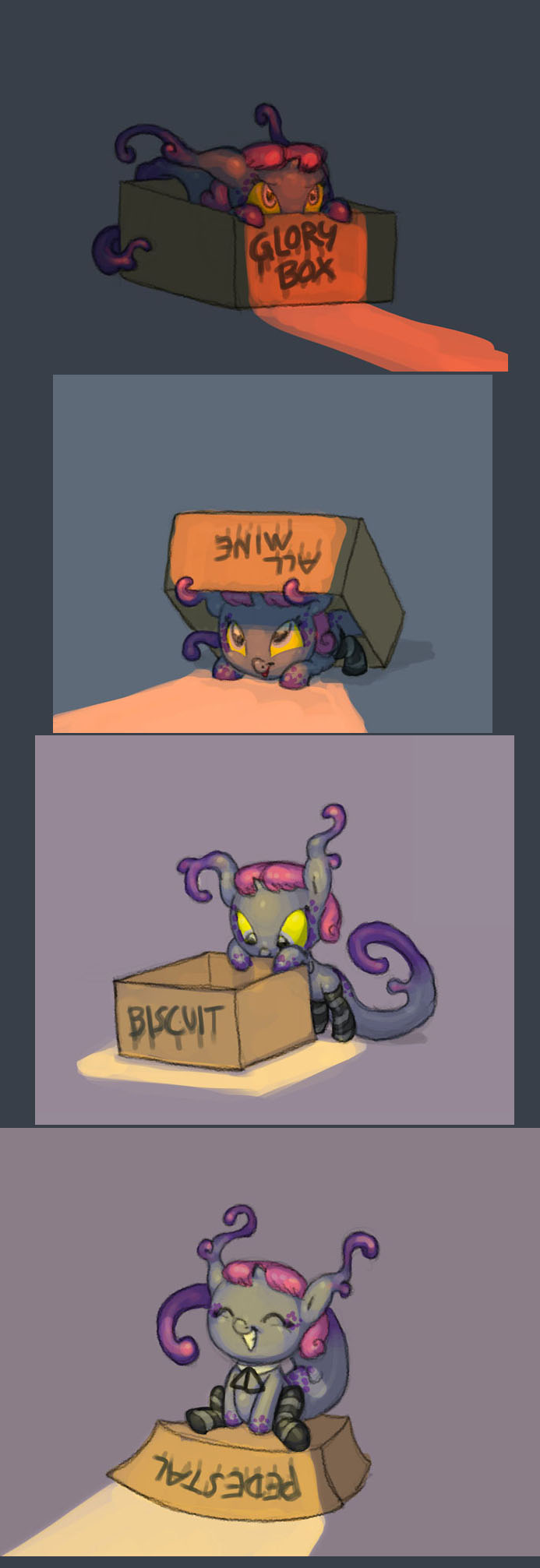 Satin and the box by Siansaar