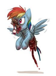 Zombie Rainbow Dash by Siansaar