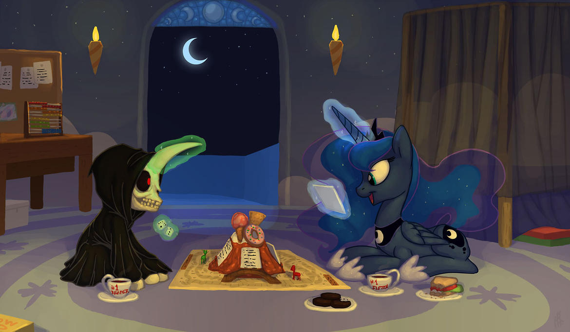 Commission: Mort and Luna by Siansaar