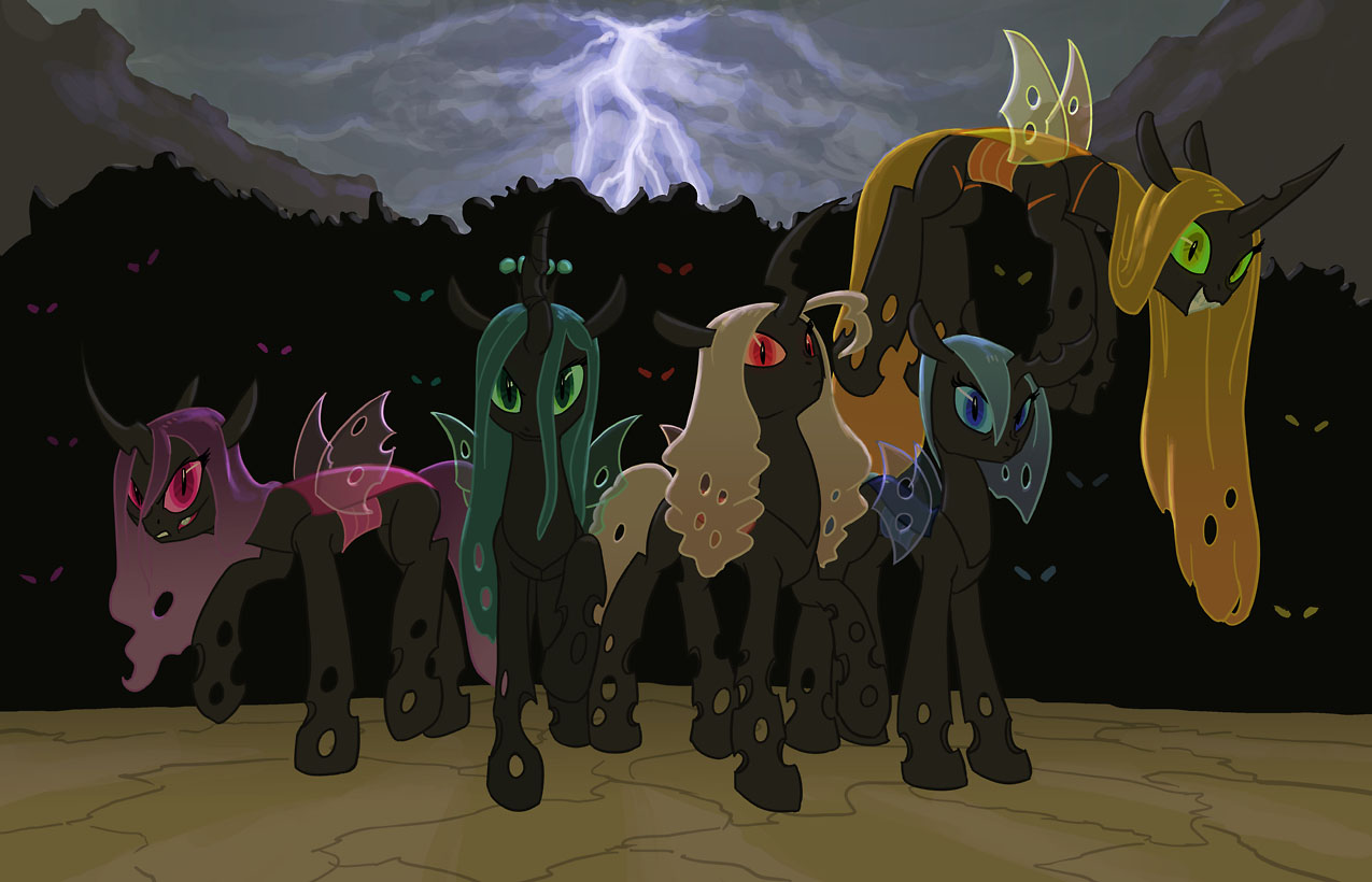 Queen Chrysalis's Changeling Swarm - The Other Hives ...