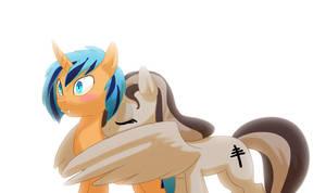 Commission: Surprise Winghug