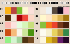 Food Colour Scheme Challenge by Technikos43