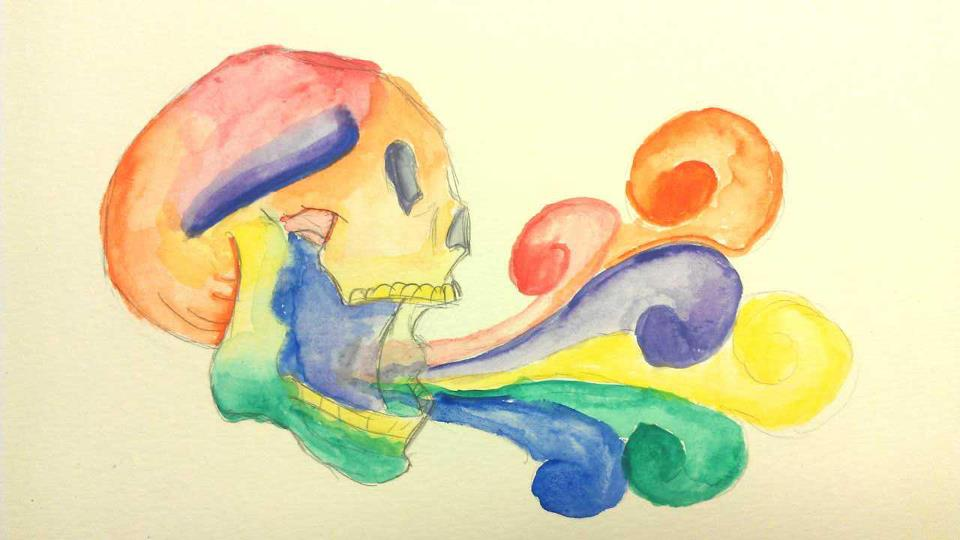 Color Wheel Skull By Snow Drop Beauty