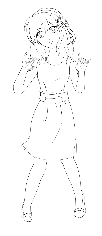 Coco Ai Kotoba II Lineart
