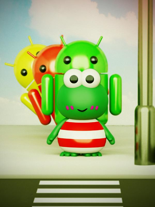 android meets keropi - what'll happen?