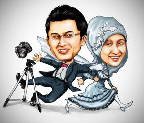 karikatur pernikahan ika rafi