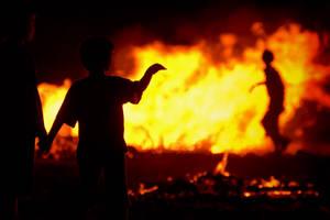 ...Through fire.....