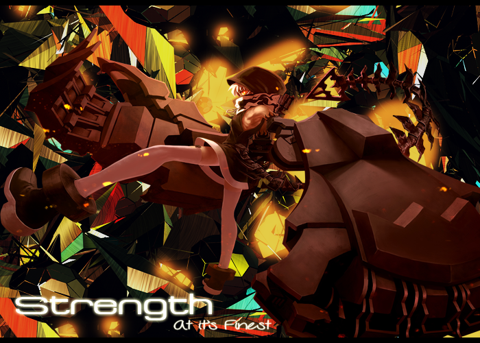 Strength Wallpaper by Nyancatfrenzy