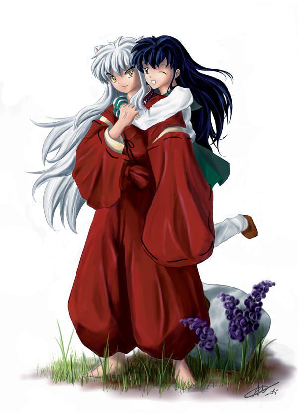 اينيوشا جديد2 Inuyasha_and_Kagome__by_alicia_lee