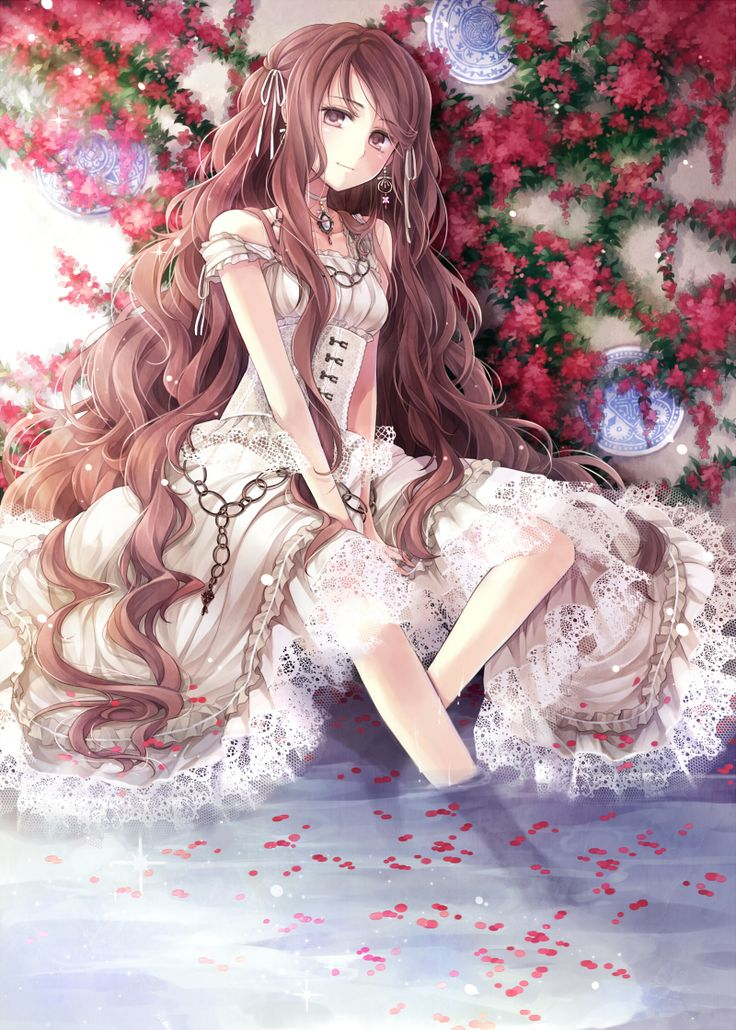 Anime Girl With Long Brown Hair Anime Girl With Curly Brown