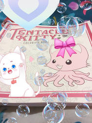 Tentacle Kitty coloring book (edited with stickers by Blaria95