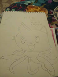 First try drawing Tentacle Kitty!  by Blaria95