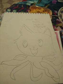 First try drawing Tentacle Kitty!
