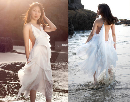 CASTAWAY - Chiffon Sling-Back Dress
