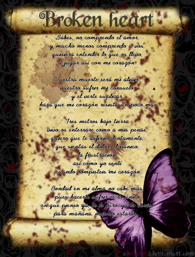 Poem Broken Heart By Tsubaky13 On Deviantart