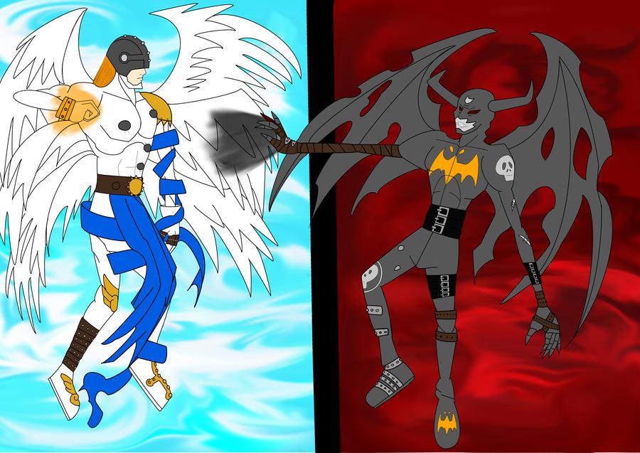 Angel vs. Devil WIP by Danitheangeldevil on DeviantArt