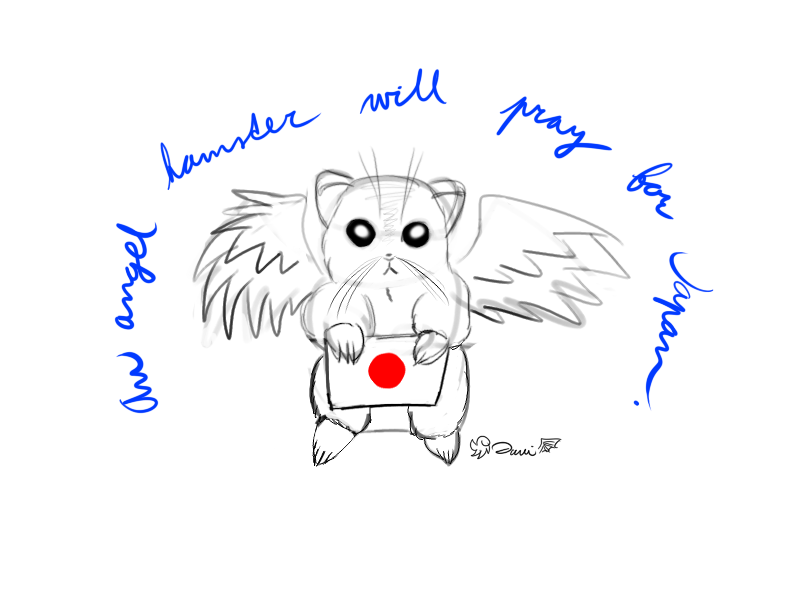 Pray for Japan by Danitheangeldevil