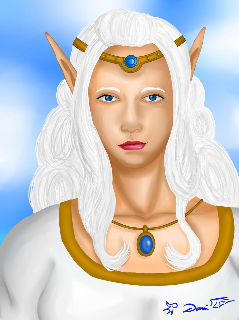 Elven sorcerer portrait by Danitheangeldevil