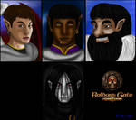 Baldur's Gate Black pit portraits by Danitheangeldevil
