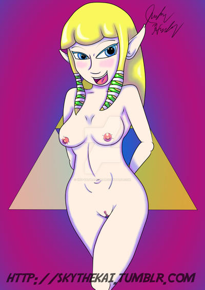 Nintendo Princesses Series - Naked Zelda by Inu-YashaDude
