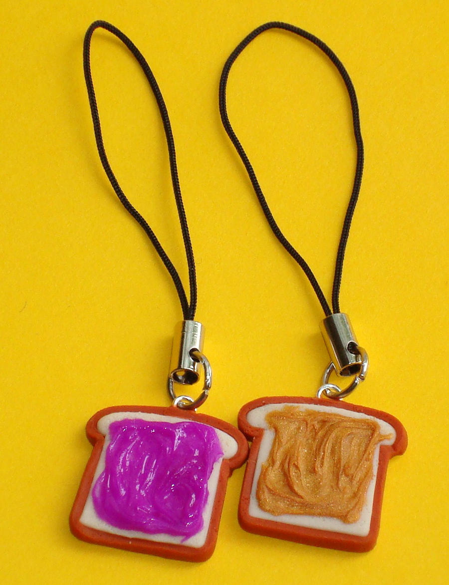 peanut butter and jelly toasts by  clayconnections on deviantart