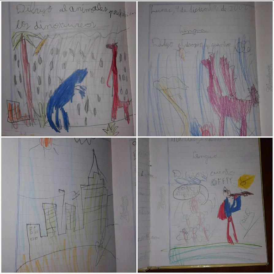 My Childhood drawings/ Mis dibujos de la infancia by JHONVIDEN996
