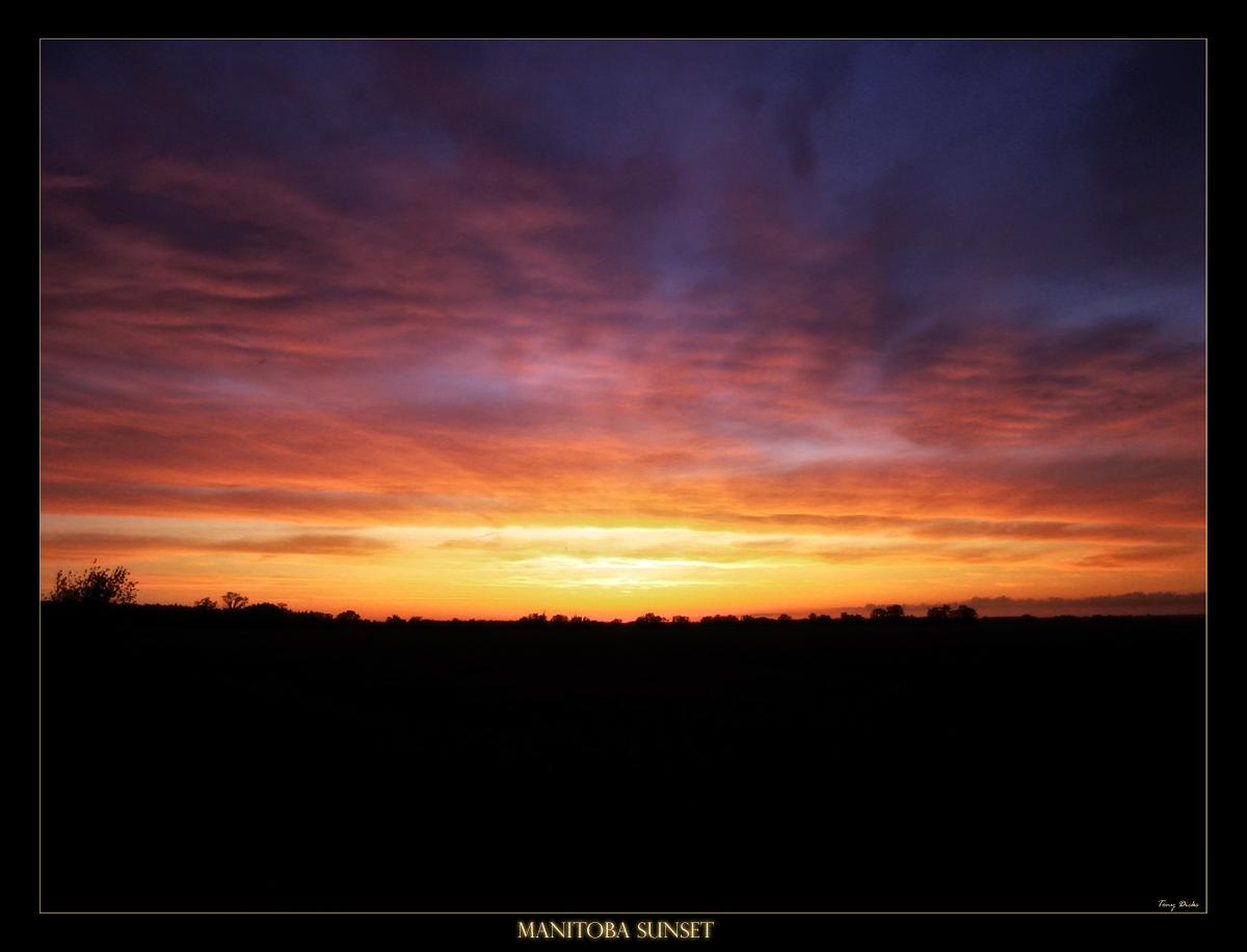 manitoba Sunset by tonydicks
