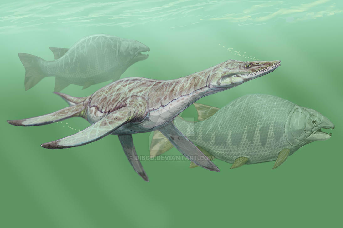Leptocleidus and Lepidotes by DiBgd
