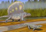 Dimetrodon and Labidosaurus