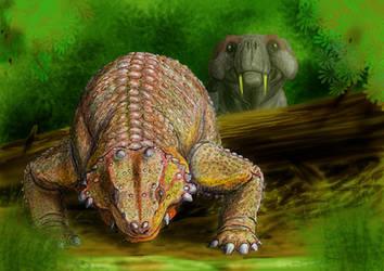 Pareiasaurus and Rubigea