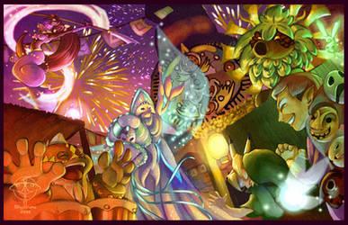 Clock Town Carnival by giz-art