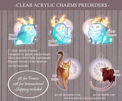 - Acrylic Charms preorder - by giz-art