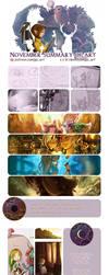 November Summary of art by giz-art