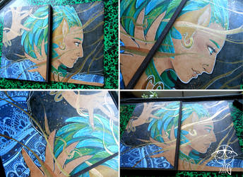 Xoco - Custom sketchbook by giz-art