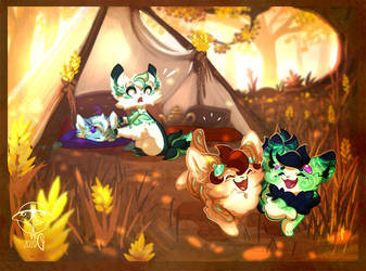 [Elnin Prompt] Spring capers - Hey ! by giz-art