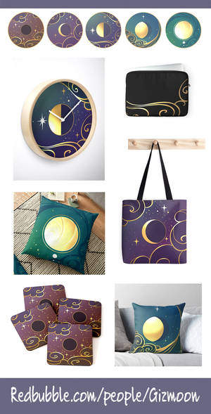 Golden Moons now on RedBubble