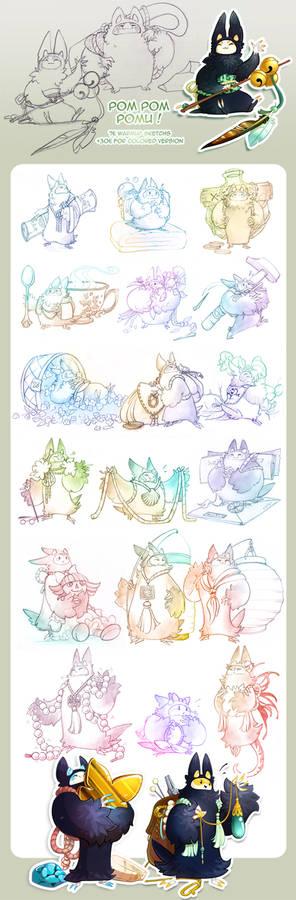 Pom Pom Pomus - Doodle commissions