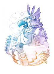 Patreon sketch request - January - Kass
