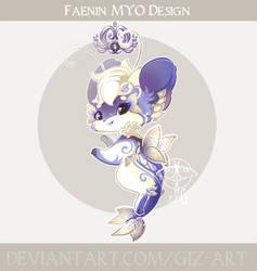 MYO Faenin design - Blue jewel