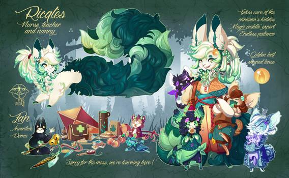 Ricqles and Zan - Character sheet