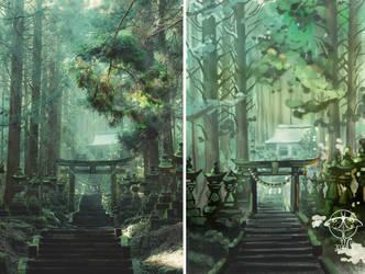 Speedpainting training - Forest temple