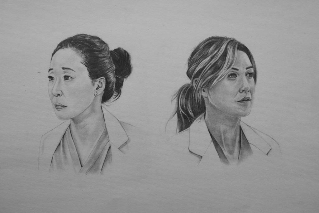 Meredith And Cristina Grey S Anatomy By Squish Jl On