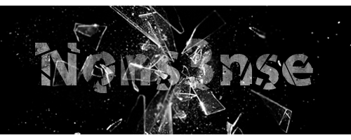 Broken Glass Text by TheNons3nse