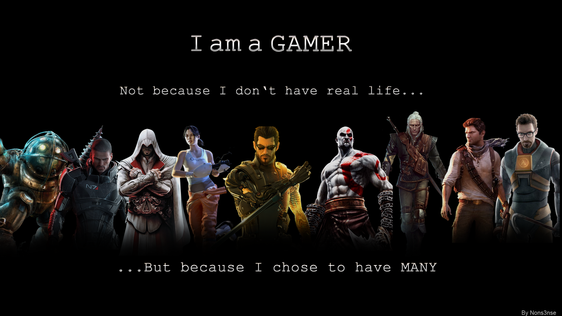 am a GAMER by TheNons3nse on DeviantArt