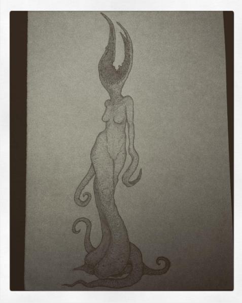 Lovecraftian creature by valleytroll