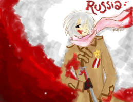 In Russia the snow is red by JennRobinEvans